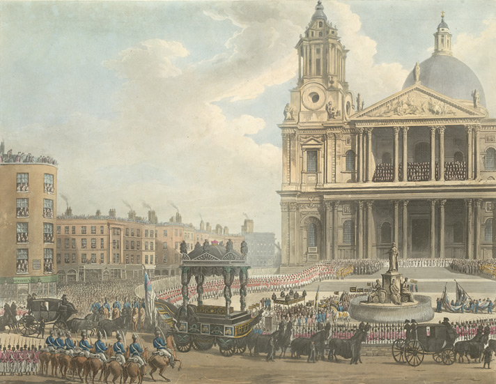 Funeral procession of the late Lord Viscount Nelson from the Admiralty to St Paul's, London